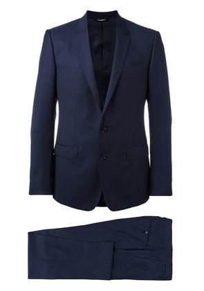 Dolce & Gabbana patterned suit - Blue