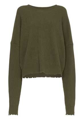 Unravel Project UNRAVEL KNT DRS WN LS RAW OS - Green