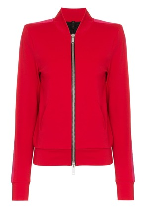 Unravel Project UNRAVEL SWTR CN LS ZIP UP W CNTRT BND - Red