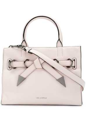 Karl Lagerfeld Rocky Bow small shopper tote - Pink & Purple