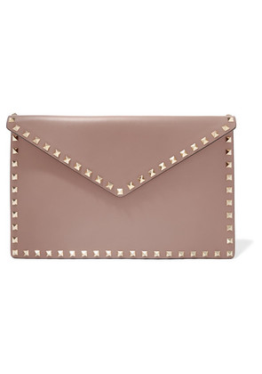 Valentino - Valentino Garavani The Rockstud Leather Pouch - Pink