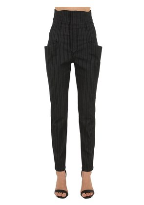 KARLY PINSTRIPE STRETCH WOOL BLEND PANTS