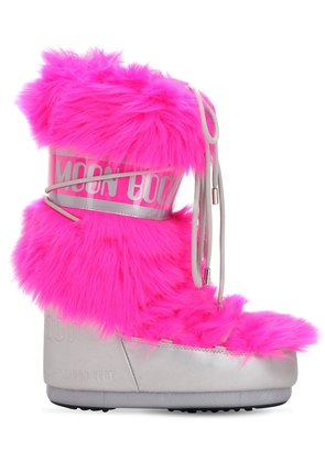 LONG FAUX FUR SNOW BOOTS