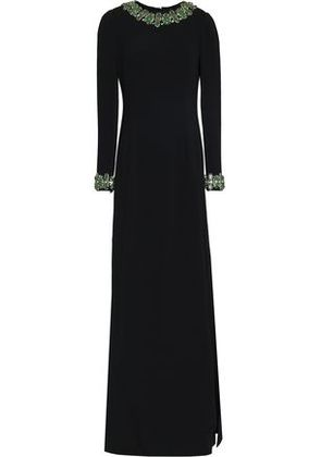 Dolce & Gabbana Woman Crystal-embellished Crepe Gown Black Size 40
