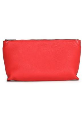 Rag & Bone Woman Textured-leather Cosmetics Case Red Size -