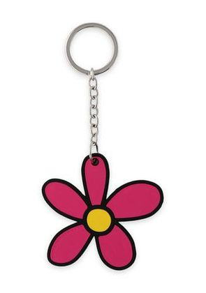 Christopher Kane Woman Silver-tone And Silicon Keychain Magenta Size -