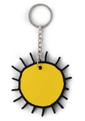 Christopher Kane Woman Silver-tone And Silicon Keychain Yellow Size -