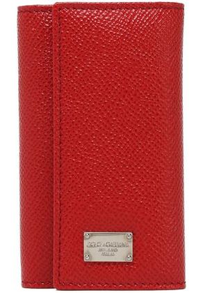 Dolce & Gabbana Woman Textured-leather Key Holder Crimson Size -