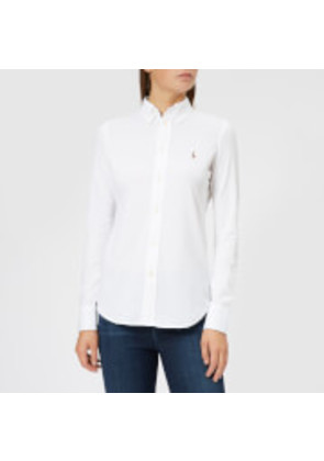 Polo Ralph Lauren Women's Heidi Skinny Fit Stretch Shirt - White - L - White