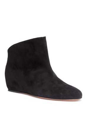 Chamois 30 black suede wedge boots