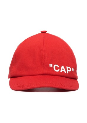 Off-White OFF QUOTE CAP RED