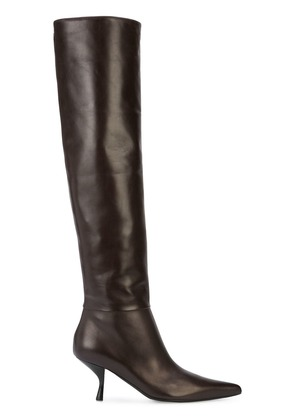 The Row knee length boots - Brown