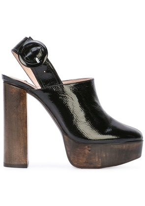 Leandra Medine high block heel mules - Black