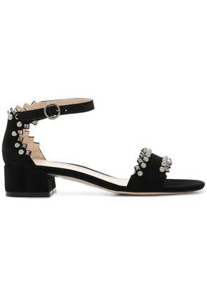Stuart Weitzman stud detail sandals - Black