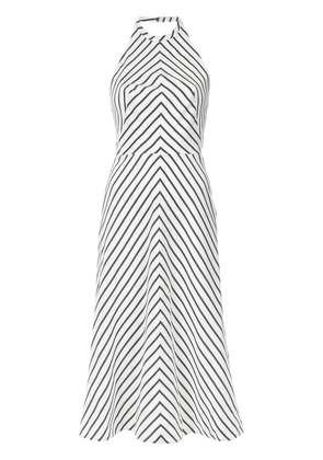 Tufi Duek striped halterneck dress - White