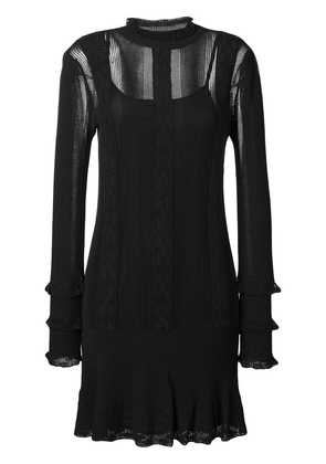 Twin-Set longsleeved knitted dress - Black
