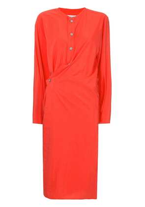 Lemaire asymmetric shirt dress - Red