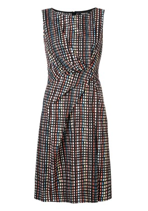 Paule Ka draped front sleeveless dress - Multicolour