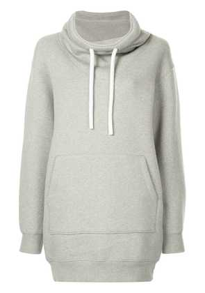 T By Alexander Wang dense fleece hoodie dress - Grey