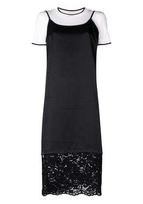 DKNY lace trim shift dress - Black