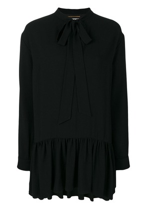 Saint Laurent Lavaliere mini dress - Black