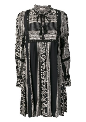 Sea patterned tunic dress - Black
