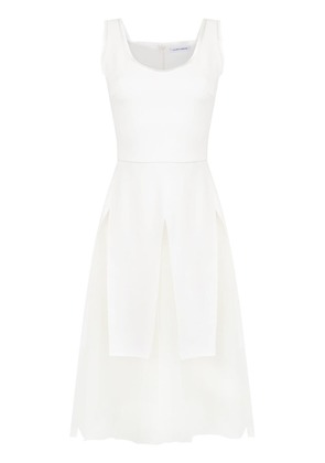 Gloria Coelho mid tulle dress - White