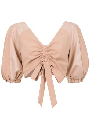 Olympiah Condotti cropped top - Nude & Neutrals