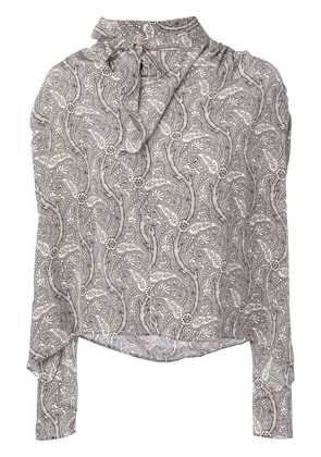 Isabel Marant bow tie blouse - Nude & Neutrals