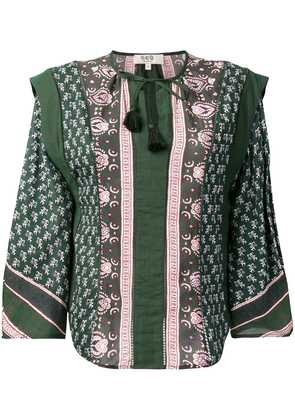Sea patterned blouse - Green