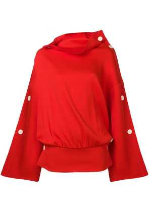 A.W.A.K.E. oversized long-sleeve top - Red