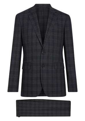 Burberry Soho Fit Check Wool Suit - Black