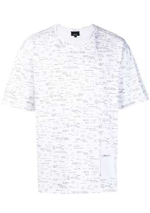 3.1 Phillip Lim receipt printed T-shirt - White