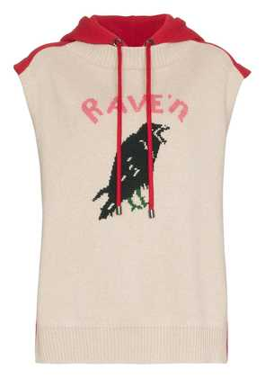 Burberry BURB RAVEN SL KNIT HOODED TOP - Nude & Neutrals