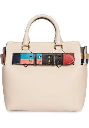 Burberry The Small Leather Colour Block Detail Belt Bag - Nude &