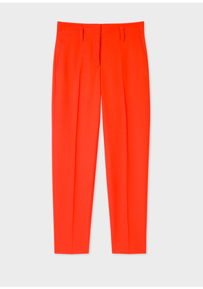 Women's Classic-Fit Poppy Red Wool Trousers