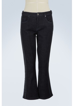 Cropped flared jeans with side stripes