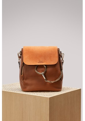 Faye suede and smooth calfskin backpack