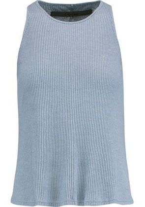 Enza Costa Woman Ribbed-knit Tank Light Blue Size S
