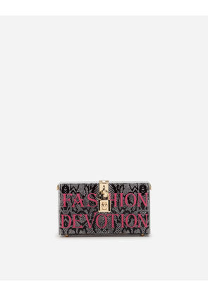 Dolce & Gabbana Mini Bags and Clutches - DOLCE BOX CLUTCH IN PLEXI WITH CHAIN MULTI-COLORED