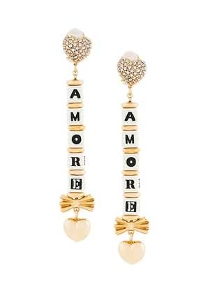 Dolce & Gabbana Amore drop earrings - Metallic
