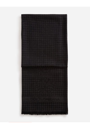 Dolce & Gabbana Scarves and Silks - SCARF IN CASHMERE AND WOOL GRAY
