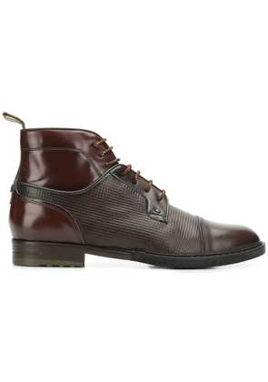 Brimarts pebbled lace-up boots - Brown