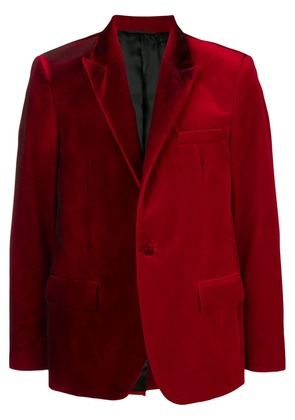 Golden Goose Deluxe Brand two-tone velvet blazer - Red