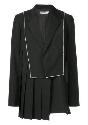 Jil Sander asymmetric pleat blazer - Black