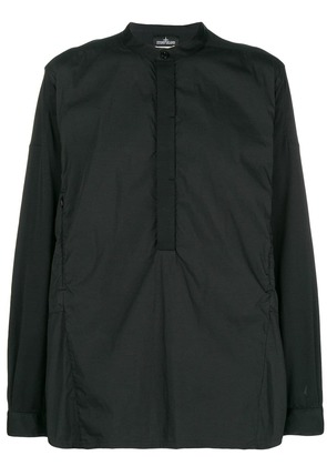Stone Island Shadow Project half-button shirt - Black