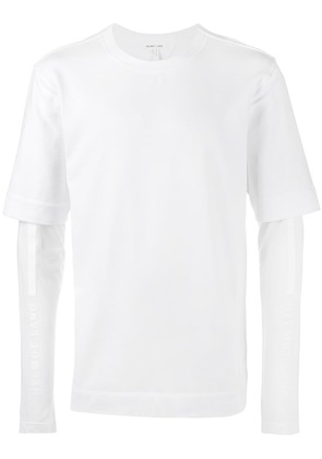 Helmut Lang double sleeve t shirt - White