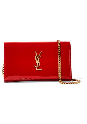 Saint Laurent - Monogramme Kate Small Patent-leather Shoulder Bag - Red