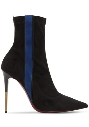 105MM STRETCH FAUX SUEDE ANKLE BOOTS