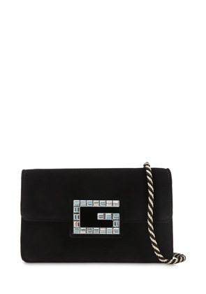 BROADWAY CRYSTAL G VELVET SHOULDER BAG